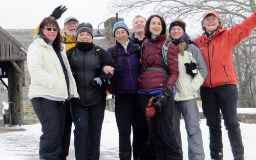 New York Woods to Farm to Table Snowshoeing Pocantico Hillls