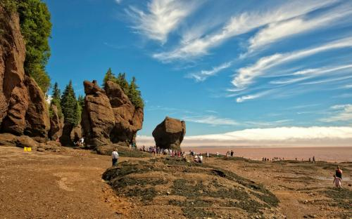 Hopewell Rocks Bay of Fundy New Brunswick Canada