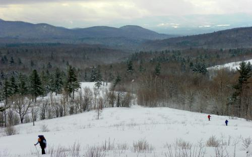 Snowshoe the trail less traveled in Robert Frost Country Vermont