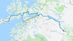 Map of Arctic Norway Sweden Adventure